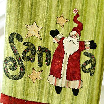 free pattern - Santa Claus applique