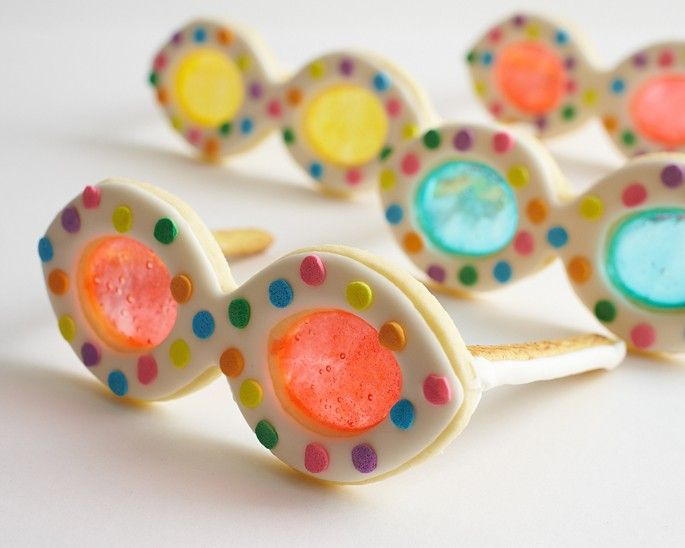 Summer Sunglass Cookie Step By Step