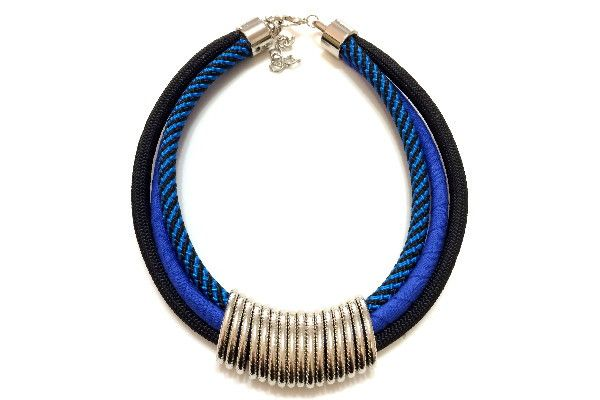 Colar de Corda Elos Blue | The Joy Bijoux & Acess | Elo7