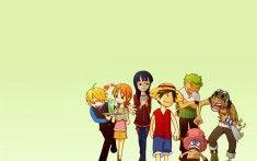 One Piece Crew Luffy, Sanji, Nami, Robin, Zoro, Chopper and Usopp Wallpaper
