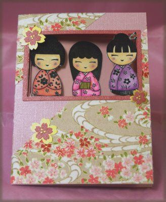 Asian card: Kokeshi Dolls for Girls' Day ... adorable!!