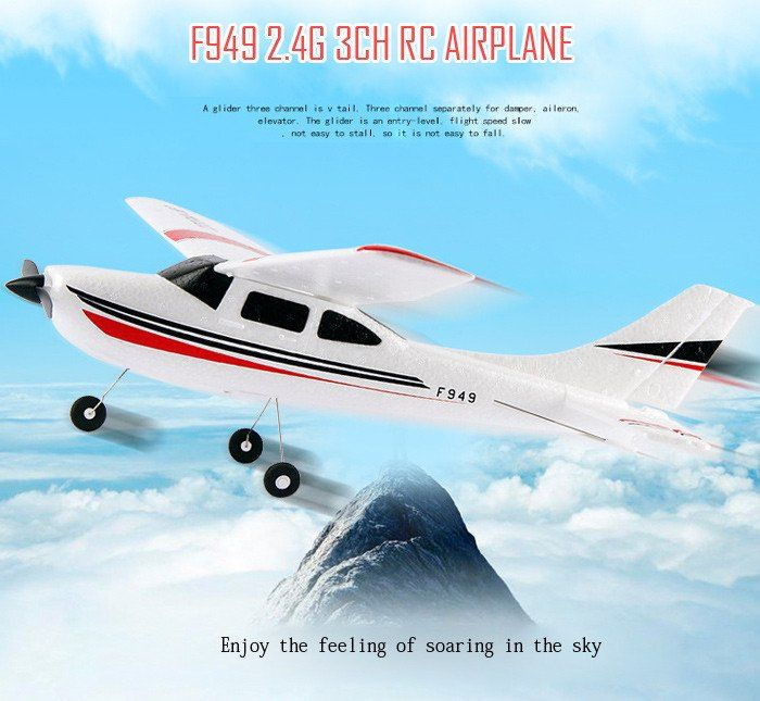 WLtoys F949 Cessna 182 2.4G 3CH Aircraft Fixed-wing Drone Plane RTF RC Toys Airplane Quadcopter Outdoor helicoptero toys for kid