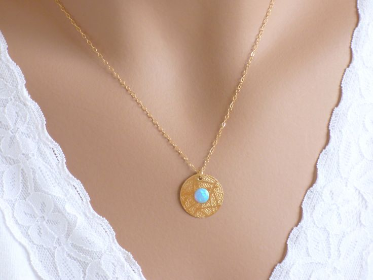 Disc Necklace, Gold Disc Necklace, Gold filled Disc Necklace, Simple Disc Necklace, Dainty Disc Necklace ,Disc Jewelry. by KRcollection on Etsy https://www.etsy.com/listing/220501838/disc-necklace-gold-disc-necklace-gold
