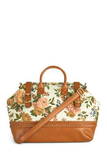 floral weekend bag.: Style, Purse, Ticket, Vintage Bags, Limit Bag, Mod Retro, Modcloth Com, Retro Vintage