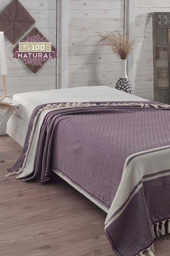Levendula pamut ágytakaró