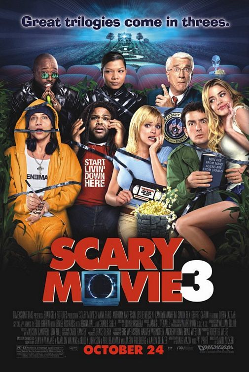 Why do other critics always hate spoofs? Is it because it is the easiest form of comedy? Sometimes, when done correctly, it can be the funniest form as well. As jumbled as the storyline is, I believe Scary Movie 3 did it correctly.