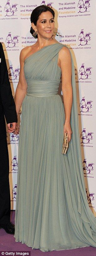 Best dressed: As Crown Princess Mary is once again voted 'most stylish royal', FEMAIL tak...
