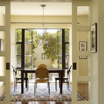 Pocket Doors And Bronze Exterior Menlo Park Residence