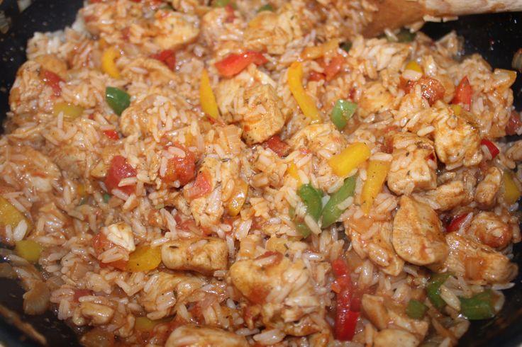 Cajun Kylling og ris gryte
