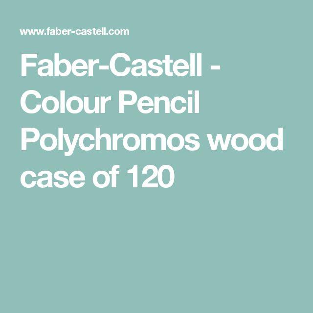 Faber-Castell - Colour Pencil Polychromos wood case of 120