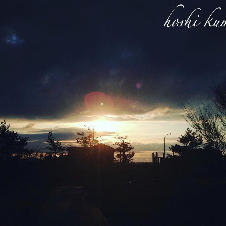山形鶴岡市への旅写真 夕陽とオーブ