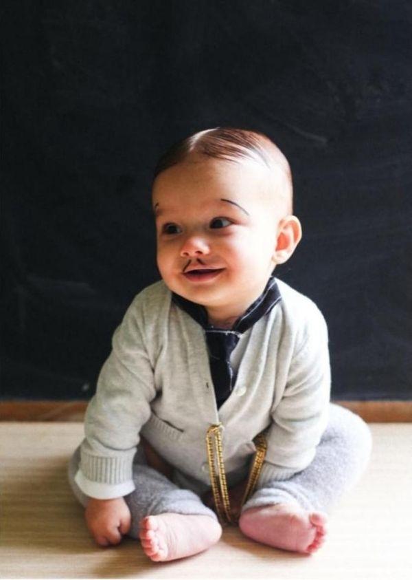 Ideen-Baby frisur Fasching-Kostüm Make-Up-ideen originell