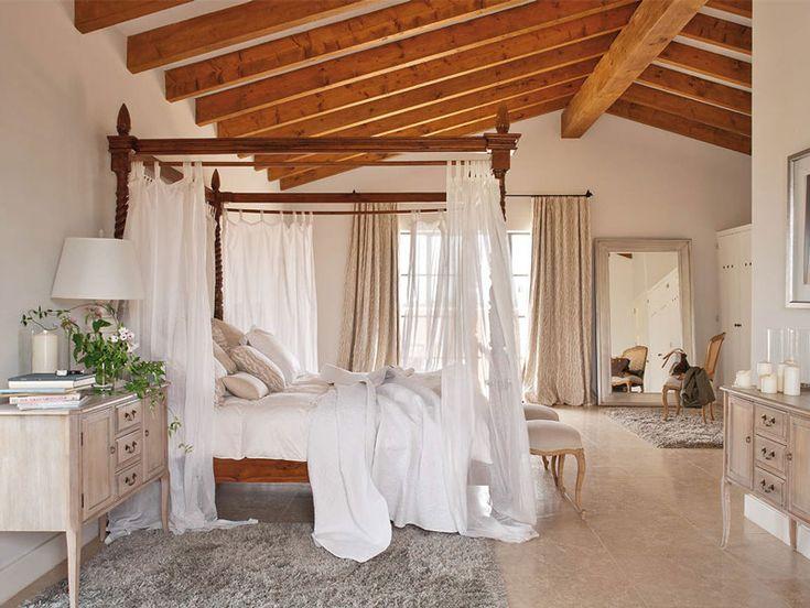 Gorgeous rustic romantic bedroom.