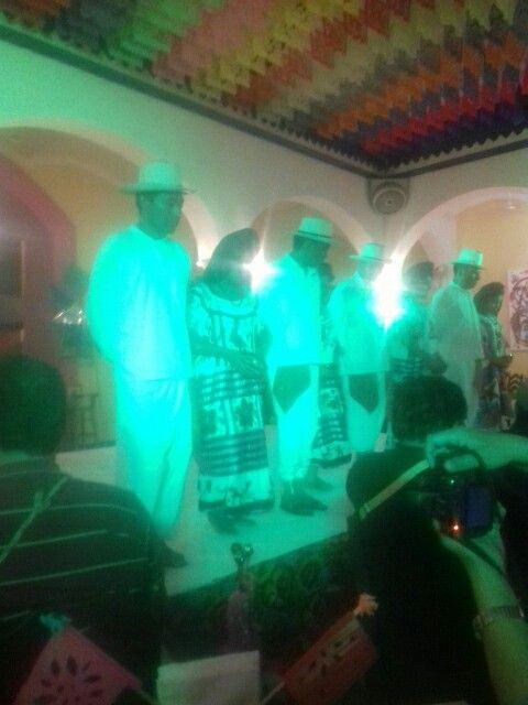 Baile de Huautla de Jiménez,  fiestas de la Guelaguetza,  Casa Mayordomo, Oaxaca, México.