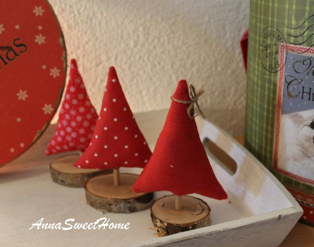 Weihnachtsdeko - ♥ Niedliche Tannenbäume 3 Stück ♥ - ein Designerstück von AnnaSweetHome bei DaWanda