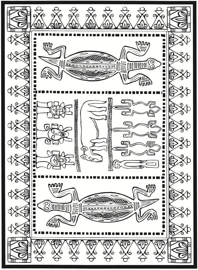 Creative Haven African Designs Coloring Book By Marty Noble