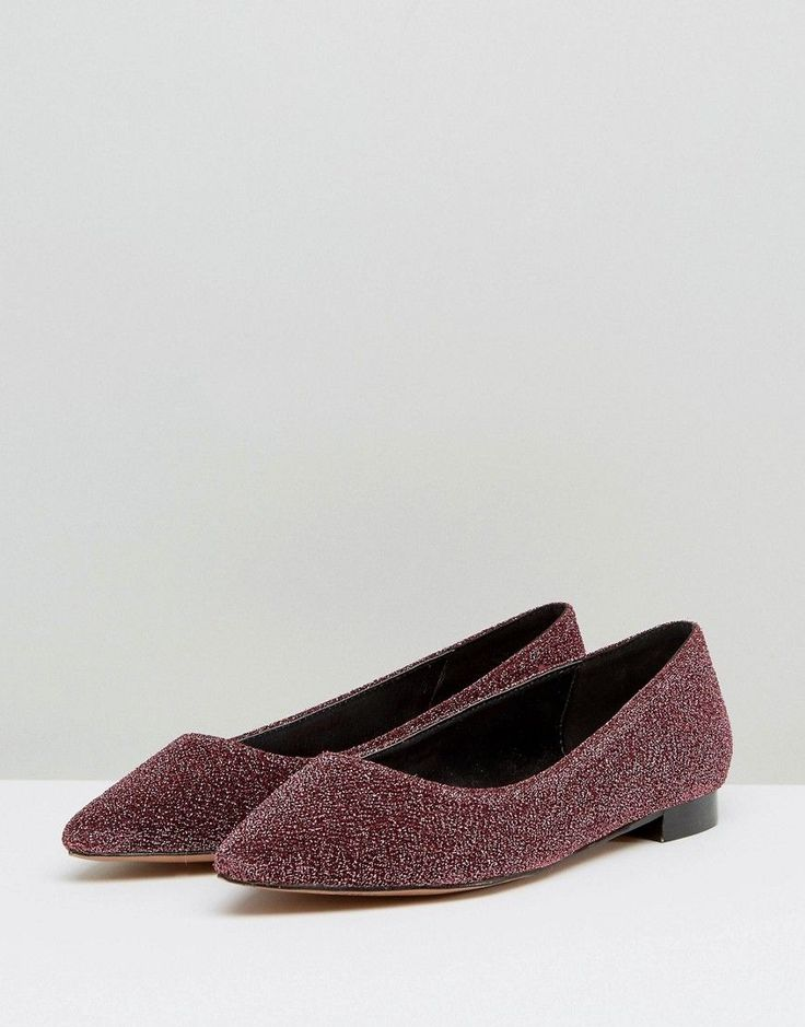 ASOS LOST Pointed Ballet Flats - Pink