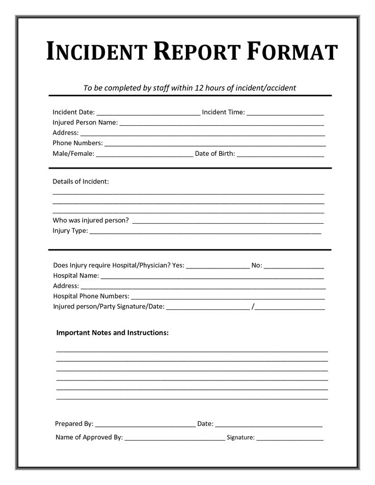 patient fall incident report