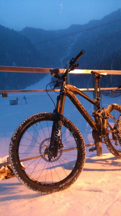 #mountainbiking #winter # mountains #mtb