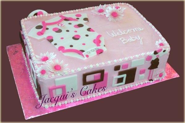 Girl baby shower sheet cake!  Too cute!!