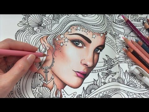 HOW I COLOR SKIN   Daydreams Coloring Book   Prismacolor Premier Colored Pencils - YouTube