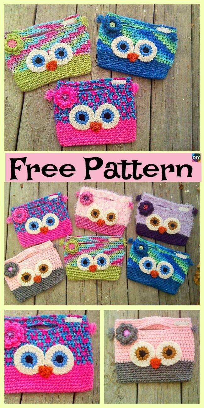 Adorable Crochet Owl Bag Free Patterns Crochet Knit Patterns