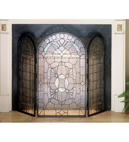 leaded glass fireplace screens. 40 Inch W X 34 H Clear Beveled Fireplace Screen Screens  GlassLeaded 70 best Stained Glass images on Pinterest