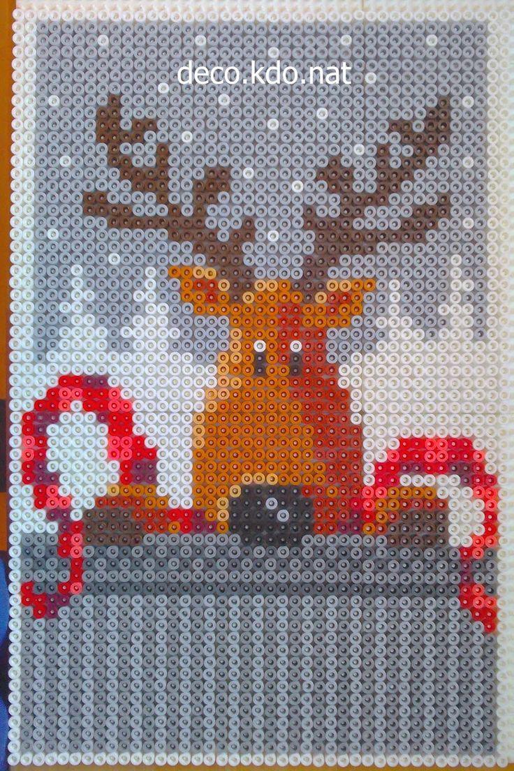 Christmas hama perler beads by Deco.Kdo.Nat