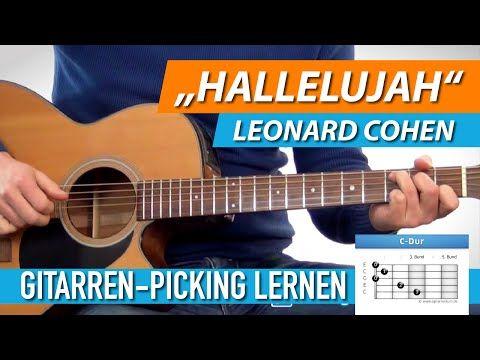 ★ HALLELUJAH ► Leonard Cohen, Jeff Buckley ► Schönes Gitarren-Picking Lernen - YouTube
