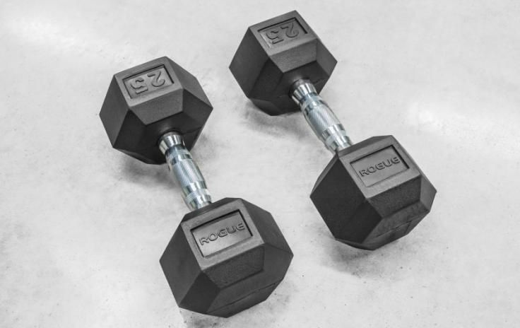 Rogue Dumbbells - Weight Training - Rubber Hex