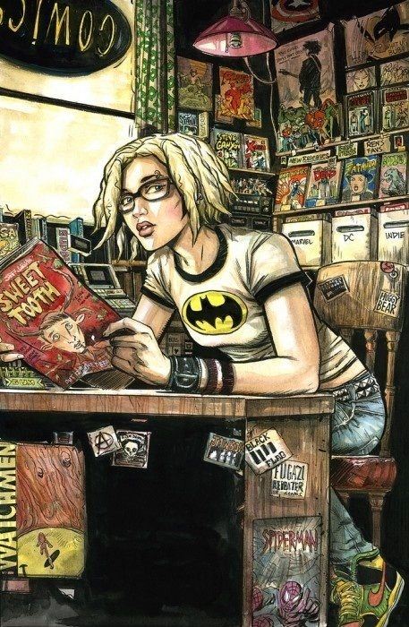 Not sure who did this, but its really cool!    #comics #art #geek