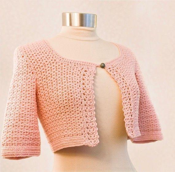 Xl Crochet Patterns : ETSY pattern: Crochet Pattern--Bolero for sizes s-xl