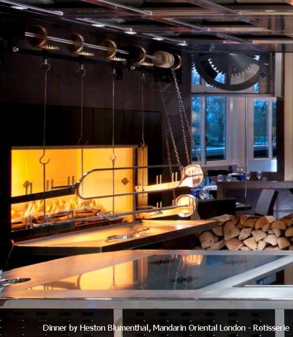 Beech Rotisserie Dinner by Heston Blumenthal Mandarin Oriental Hyde Park London.