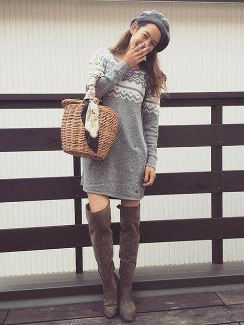 新タイプ!冬コーデにカゴバッグ?新感覚コーデのファッションアイデアまとめ☆参考にしたいスタイル♪