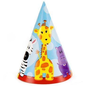 Safari+Friends+1st+Birthday+Cone+Hats