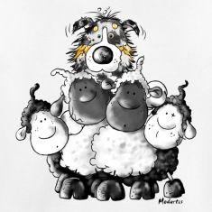 Pastor ovejero australiano, Aussie,raza deperrodepastoreo , agilidad, flyball , perro, perros, oveja, t-shirtCamisetas.