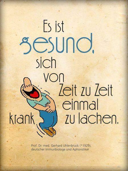'Krank lachen ist gesund' von Dirk h. Wendt bei artflakes.com als Poster oder Kunstdruck $16.99