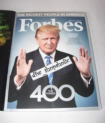 FORBES 2016 400 Issue Richest People in AMERICA Donald TRUMP The AMERICAN DREAM