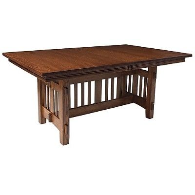 Baha Dining Table handmade in Cherry, Oak, Pine & more : Furniture Store Milwaukee and Chicago : Penny Mustard
