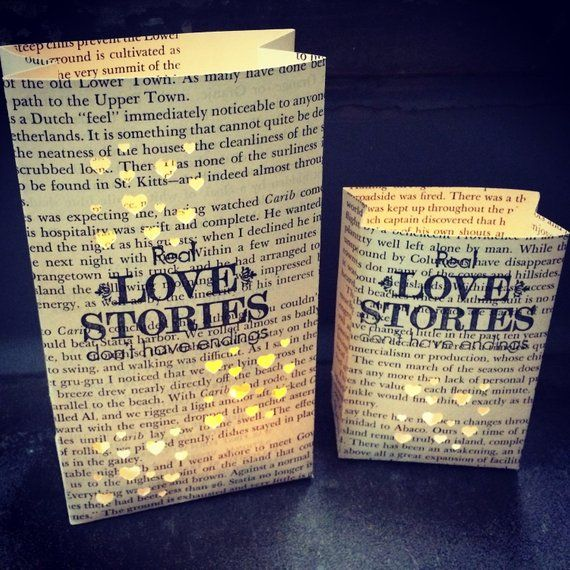 Livre pièce maîtresse, histoires d'amour réel n'est pas les terminaisons, livre de mariage Decor, 3 luminaires, livre sur le thème, mariage de bibliothèque, ils vécurent