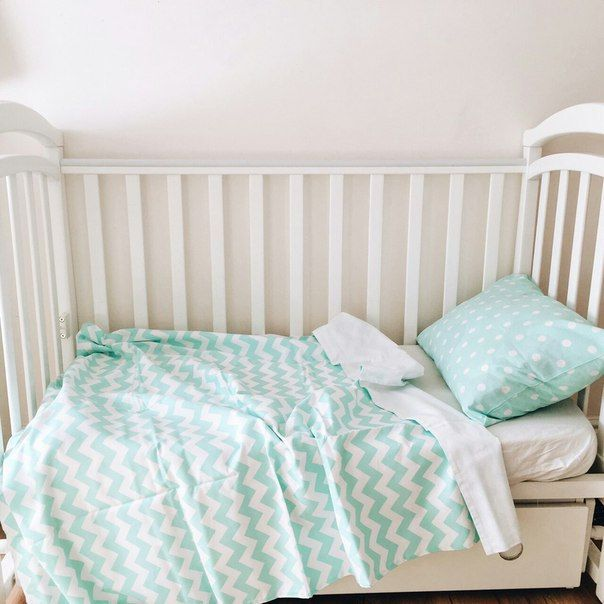 Baby Bedding - Nursery Bedding - Mint Polka Dot Bedding - Baby Bedding Crib - Unique Bed Clothing - Handmade Bedding Set - Mint And White by KarambaKids on Etsy