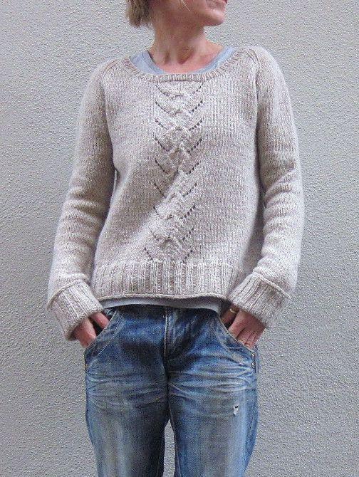 Пуловер свободного покроя Mailin, связанный без швов сверху вниз. Дизайн Isabell Kraemer