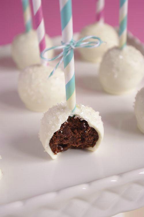 Cake pops brownies  philadelphia milka