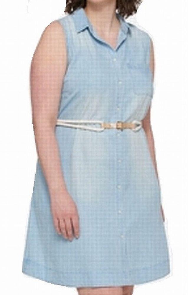 aa14dae720f74f  DenimDress Tommy Hilfiger NEW Blue Women s Size 16W Plus Denim Belted Shirt  Dress  99  312 - Denim Dress  17.99 (0 Bids) End Date  Mon…