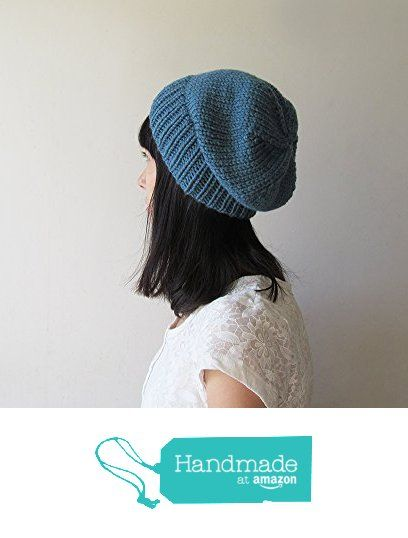 Storm Blue Slouchy Hat, Mens Slouchy Beanie, Hand Knit Chunky Slouch Hat, Winter Women Hat, Wool Blend, Winter Accessories, Made to Order from NaryaBoutique https://www.amazon.com/dp/B01LZB6GR2/ref=hnd_sw_r_pi_dp_5eT8xb6RR0DWB #handmadeatamazon