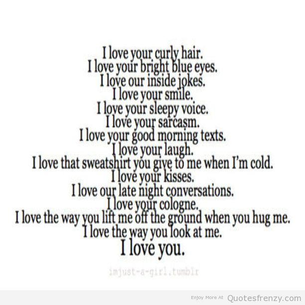 I Love You Quotes For Boyfriend : LOVE YOU Boyfriend quotes and sayings... Pinterest