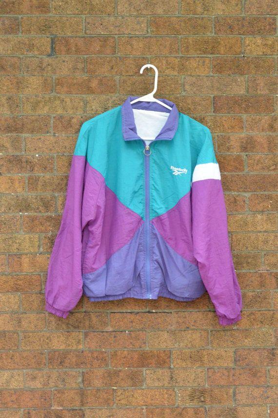 Vintage Reebok Windbreaker Jacket Teal by littleraisinvintage, $16.00