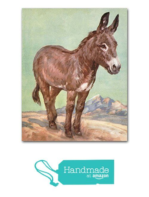 "Donkey Art (Southwestern Wall Decor, Western Office Print, Farm Animal Baby Nursery) ""Loyal"" -- Unframed from Cloud Nine Prints https://www.amazon.com/dp/B015WX2BUG/ref=hnd_sw_r_pi_awdo_uCaEzbH9GCBE7 #handmadeatamazon"