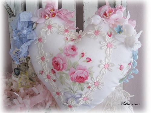Isn't this heart and roses doorknob hanger beautiful!!!