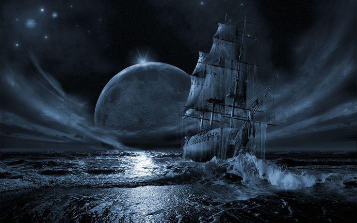 3. Dit is de ruimte waar het grootste deel van het verhaal zich afspeelt, op zee. De donkere nacht geeft goed weer wat de sfeer was op het schip van hal, De reiger, ze jagen op een piratenschip van Zavac omdat die een waardevolle steen heeft gestolen van hun volk. De sfeer is slecht omdat het spoor dood lijkt te lopen en er langzamerhand steeds meer ruzies ontstaan.